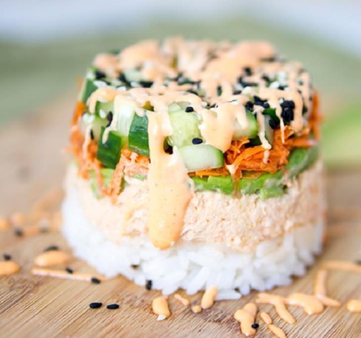 מתכון לעוגת סושי טונה
