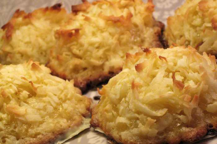 מתכון לעוגיות קציפת קוקוס חלביות ללא קמח