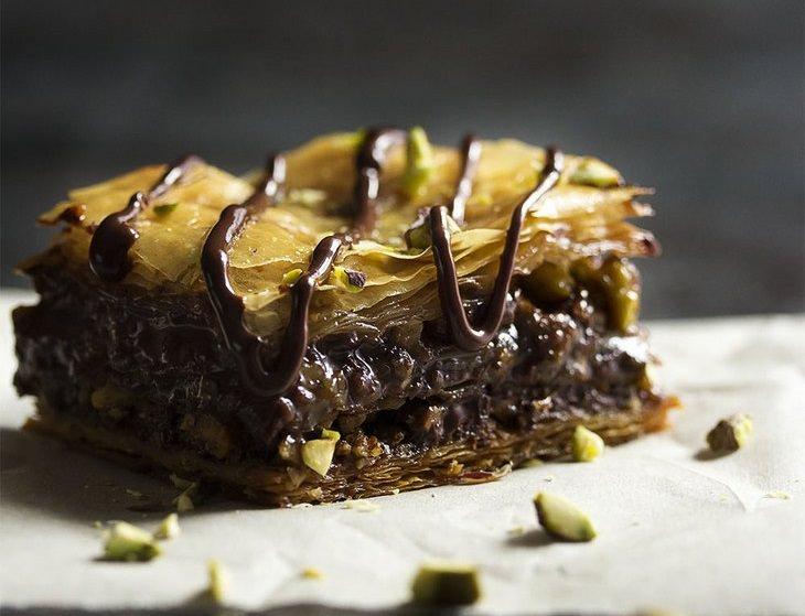 מתכון לבקלווה פיסטוק ושוקולד