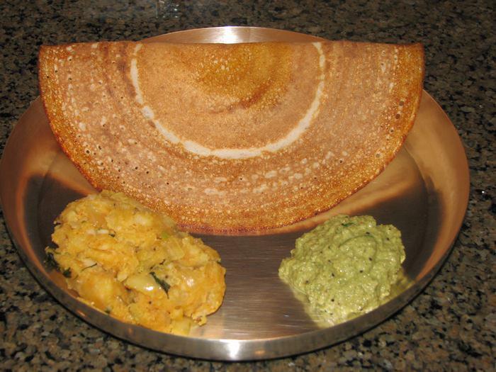 מתכון לפנקייק הודי לארוחת בוקר - דוסה