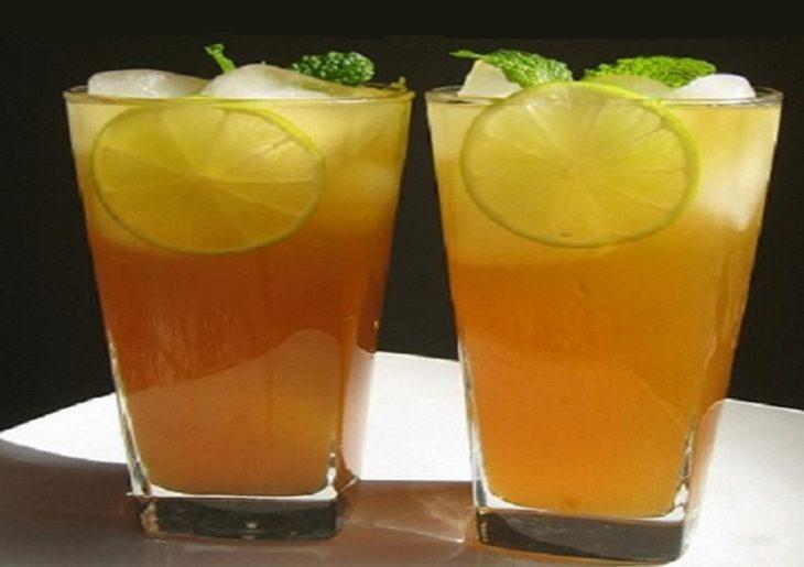 מתכון למשקה תה ג'ינג'ר-לימון קר