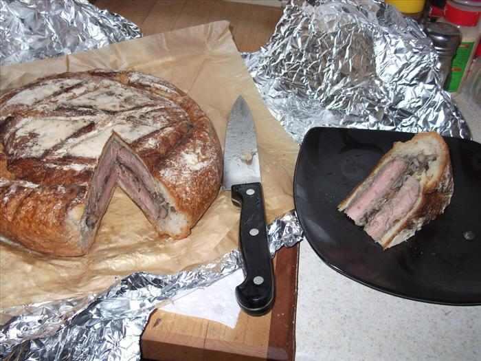 מתכון ללחם ממולא בסטייק ופטריות