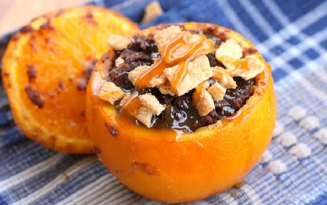 מתכון לעוגה שוקו-תפוז בתוך קליפת תפוז